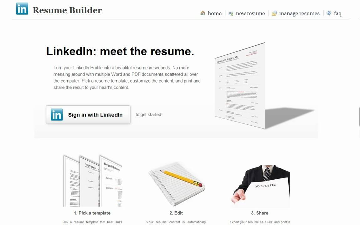 Linkedin Resume Builder Review - Youtube throughout Resume Builder Linkedin